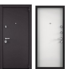 Дверь Super Omega 100 Черный муар/Кт белый глакий