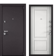 Дверь Super Omega 100 Черный муар/ПВХ бел шамбори SO-NC-1