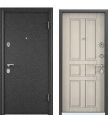 Дверь Delta 100 черный шелк/ПВХ белый перламутр D12
