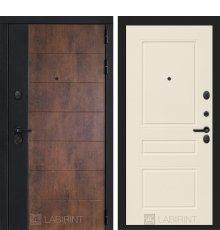 Дверь Лабиринт ТЕХНО 03 — Крем софт