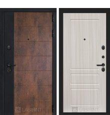 Дверь Лабиринт ТЕХНО 03 — Сандал белый