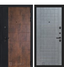 Дверь Лабиринт ТЕХНО 09 — Лен сильвер грей