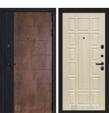 Дверь Лабиринт ТЕХНО 12 — Беленый дуб