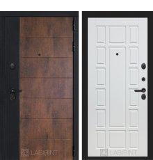 Дверь Лабиринт ТЕХНО 12 — Белое дерево