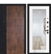 Дверь Лабиринт ТЕХНО 18 — Белое дерево