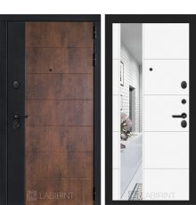 Дверь Лабиринт ТЕХНО 19 — Белый софт