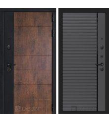 Дверь Лабиринт ТЕХНО 22 — Графит софт