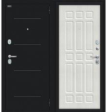 Дверь Браво Мило 104.52 Букле черное/Bianco Veralinga