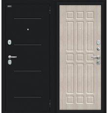Дверь Браво Мило 104.52 Букле черное/Cappuccino Veralinga