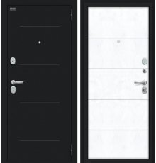 Дверь Браво Граффити-1 Букле черное/Snow Art фото