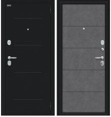 Дверь Браво Граффити-1 Букле черное/Slate Art фото
