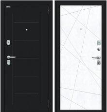 Дверь Браво Граффити-5 Букле черное/Snow Art