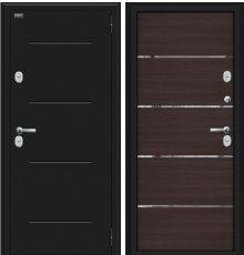 Дверь Браво Thermo Лайн Букле черное/Wenge Veralinga
