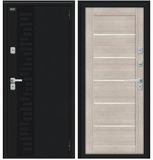 Дверь Браво Thermo Техно Декор Букле черное/Cappuccino Veralinga