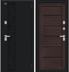 Дверь Браво Thermo Техно Декор Букле черное/Wenge Veralinga