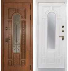 Дверь ЗД Лацио с терморазрывом с белой панелью (Винорит вайт)