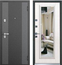 Дверь Бульдорс 44 T Черный шелк K-2, МДФ Лиственница бежевая фото
