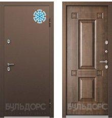 Дверь Бульдорс ТЕРМО-2 Медь / Орех грецкий ТВ-2 хром