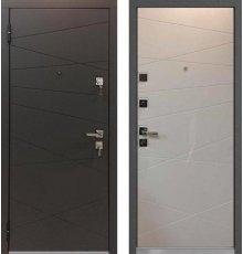 Дверь Mastino Monte Графит софт / Белый софт фото