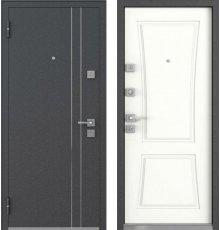 Дверь Mastino Terra Черный шелк / Белый софт фото