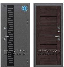 Дверь Bravo Термо 222 Wenge Veralinga/Black Star