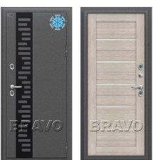Дверь Bravo Термо 222 Cappuccino Veralinga/White Pearl