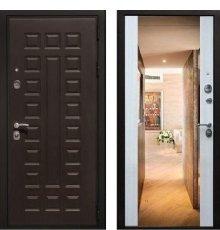 Дверь ZMD Премиум 183 Венге / Белая сосна + Зеркало фото