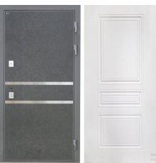 Дверь Интекрон Неаполь Штукатурка графит Белая матовая ФЛ-243-М