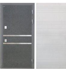 Дверь Интекрон Неаполь Штукатурка графит Белый ясень ФЛ-316