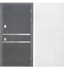 Дверь Интекрон Неаполь Штукатурка графит Элит Роял Вуд белый