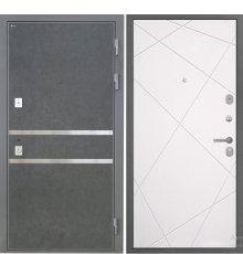 Дверь Интекрон Неаполь Штукатурка графит  Лучи милк