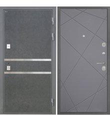 Дверь Интекрон Неаполь Штукатурка графит  Лучи графит