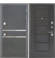 Дверь Интекрон Неаполь Штукатурка графит Орех премиум ФЛ-39