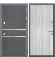 Дверь Интекрон Неаполь Штукатурка графит Сандал белый L-5