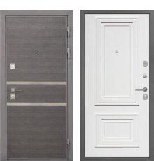 Дверь Интекрон Неаполь Штукатурка графит Сан Ремо 1 RAL 9003