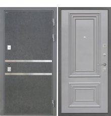 Дверь Интекрон Неаполь Штукатурка графит Сан Ремо 2 RAL 7037