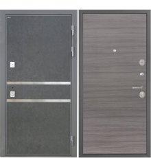 Дверь Интекрон Неаполь Штукатурка графит Дуб тоскано поперечный