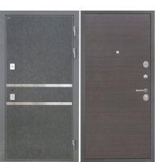 Дверь Интекрон Неаполь Штукатурка графит Эковенге поперечный