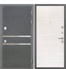 Дверь Интекрон Неаполь Штукатурка графит Дуб сильвер поперечный