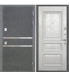 Дверь Интекрон Неаполь Штукатурка графит Валентия 2 Ясень жемчуг