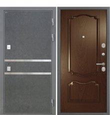 Дверь Интекрон Неаполь Штукатурка графит Позитано Дуб бургундский