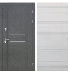 Дверь Интекрон Сенатор Лофт Штукатурка графит Белый ясень ФЛ-316