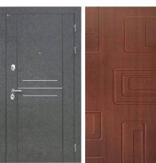 Дверь Интекрон Сенатор Лофт Штукатурка графитЭлит лиственница кофе