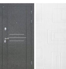 Дверь Интекрон Сенатор Лофт Штукатурка графит Элит Роял Вуд белый