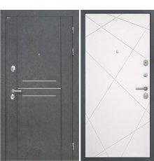 Дверь Интекрон Сенатор Лофт Штукатурка графит Лучи милк