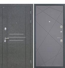 Дверь Интекрон Сенатор Лофт Штукатурка графит Лучи графит