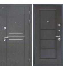 Дверь Интекрон Сенатор Лофт Штукатурка графит Орех премиум ФЛ-39
