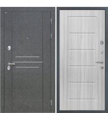 Дверь Интекрон Сенатор Лофт Штукатурка графит Сандал белый ФЛ-39