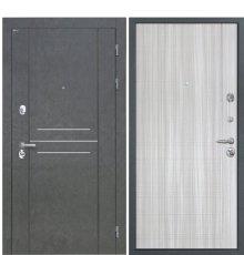 Дверь Интекрон Сенатор Лофт Штукатурка графит Сандал белый L-5