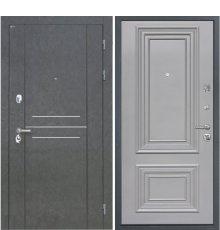 Дверь Интекрон Сенатор Лофт Штукатурка графит Сан Ремо 2 RAL 7037